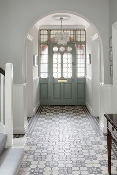 hallway flooring Home Renovation Design Awesome 20 Fabulous Hallway Decor Ideas For Home. - Hallways are often overlooked when decorating a home. Homeowners are so focused on designing beautiful rooms, that the hallways wind [] Tiled Hallway, Modern Hallway, Hallway Flooring, Grey Hallway, Tile Flooring, Tile Entryway, Hallway Paint, Modern Staircase, Flooring Ideas