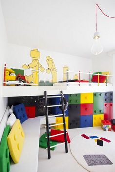 Best Kids Rooms Ever? We know kids love legos and bright colors...   Find Legos in our product library:  http://planner.roomsketcher.com/?ctxt=rs_com#/?pid=493174  #kids #decor #legos