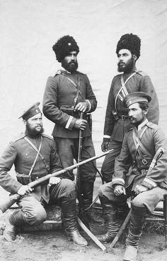 Uralskie cossacks ( on river Ural ) ~ looks like the photo is from late 19th c. but just fits into this time frame. Photo was too cool not to include here.