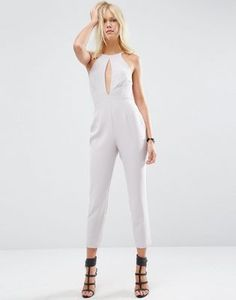651f7aa4f69 ASOS Jumpsuit with Keyhole Plunge Detail at asos.com