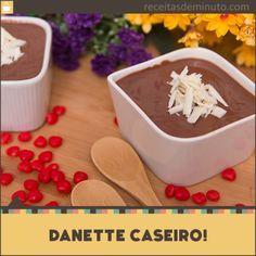O canal Receitas de Minuto ensina de forma rápida e fácil como fazer o famoso iogurte de chocolate.
