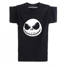 2016 Mens T Shirt Nightmare Before Christmas Jack Skellington Male Charcoal T-Shirt Accept Customized Cotton Short Sleeve Tops(China (Mainland))