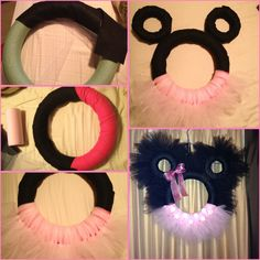 Super easy Minnie Mouse wreath. #minniemouseparty