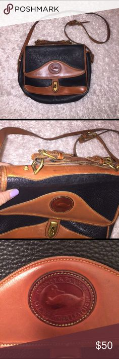 """Dooney & Bourke Side Bag 11"""" by 10"""". In good condition. Pictures show signs of wear. The perfect simple side bag! Feel free to ask any questions! Dooney & Bourke Bags Crossbody Bags"""