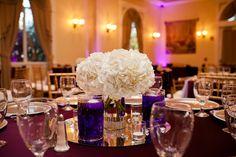hydrangea wedding table centerpieces #wedding #centerpieces #hydrangea Arlington Wedding Photographer | F + Vs Modern Mediterranean Villa Wedding Ceremony & Reception