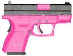"""My wife's Springfield XD 4"""" 9mm! She loves those pink guns! (DCJ)"""