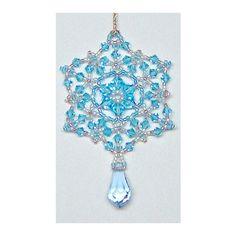 Blue Ice Crystal Ornament & Pendant   Bead-Patterns.com