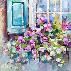CHARLESTON PLANTATION COLOURFUL FLOWERS BOX CANVAS PRINT WALL ART PICTURE