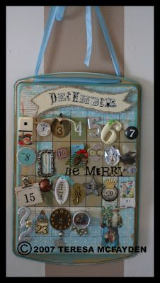 Teresa McFayden - cookie sheet advent calendar - Today's Creative Blog 2007