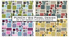 """Punch Collection 24""""x44""""(Three panels) Large modern motif in your home projects! Designed by Stoffabric."""