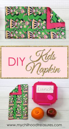 DIY Napkins - put a smile on your children's face when they open their lunch box and see a personalized napkin you've made just for them.