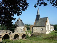 château de Bourgon. Montourtier. Pays-de-la-Loire