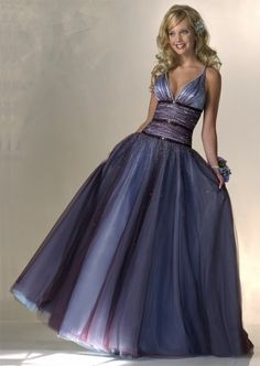 Lovely purple gown is Grecian in design. I love the detail at the waist. Really looks like a fairy princess!