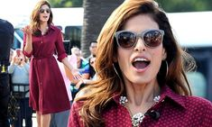 She recently launched her very first fashion collection and is currently on a promotional blitz for the label. And Eva Mendes was once again a walking advertisement for her signature line for her appearance on Extra on Wednesday..
