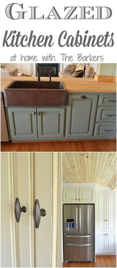 glazing/ antiquing cabinets. a complete how to guide from a