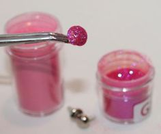 How to glitter, flock and change brad color