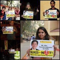 Anti-nuclear activists protest against Shinzo Abe's India visit | www.dnaindia.com
