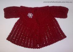 Cappottino rosso in lana.