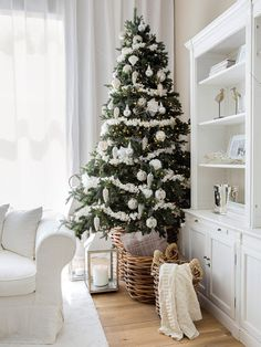 White decorated tree