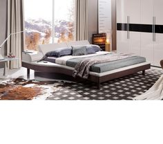 California King Bed Wstorage Vig Modrest Logan Black Leatherette In - Logan-leather-bed-with-adjustable-headboard