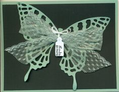 Mint Macaron, Butterfly Thinlits.  Cased design from Peggy at Pretty paper cards