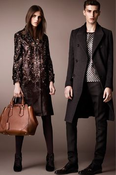 Burberry Prorsum Pre-Fall 2013 Collection. Love the spotty coat!