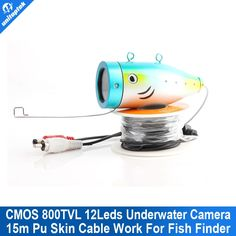 "74.24$  Buy here - http://alic0b.worldwells.pw/go.php?t=32725126885 - ""Only 800TVL 12 White Underwater Video Camera With 15 Meters Cable For 7"""" TFT LCD Fishing Camera"""