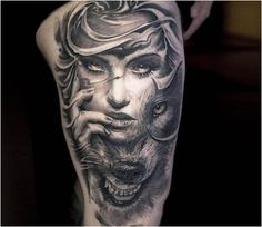 Perfect Black and grey Wild Face tattoo motive by Victor Portugal Wolf Tattoos, Life Tattoos, Body Art Tattoos, Maori Tattoos, Tattos, Face Tattoos For Women, Tattoos For Guys, Trendy Tattoos, Popular Tattoos