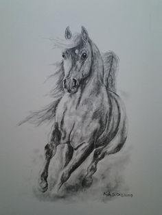 Running Hard  original colored pencil art by wordfirstartstudio, $24.00
