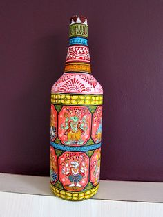 Designer Bottle With Pattachitra Art Rs 2,500.00