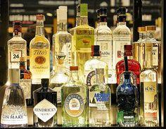 Gin, Vodka, Alcoholic, Bottle