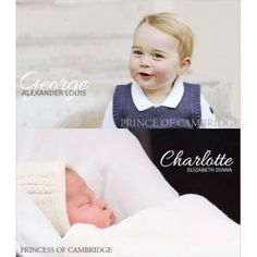 """George and Charlotte both have one of their parents middle names."" #princegeorge #princesscharlotte"