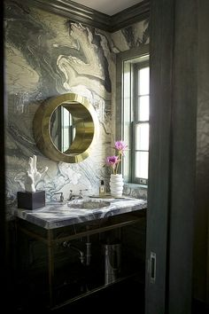 Are you tired of white marble - here are 14 beautiful bathroom in black marble - Comfortable home