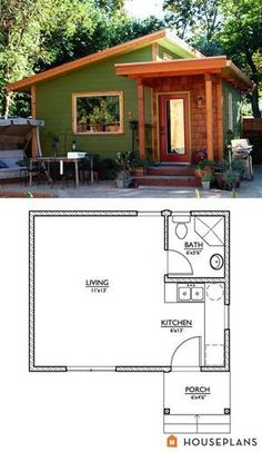 Tiny House Plans 90212798772909887 - Modern Style House Plan – Studio 1 Baths 320 Sq/Ft Plan by AlliFiske Source by gabriellemayo Tiny House Cabin, Tiny House Living, Small House Plans, House Floor Plans, Tiny Home Floor Plans, Micro House Plans, Small House Design, Modern House Design, Small Modern Cabin