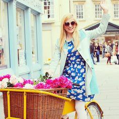 She and Hem wears Boden shirt dress. April 2015.