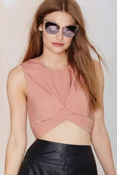 1763d8b024a3a7 Nasty Gal Knot in Love Crop Top - Cropped Summer Tops
