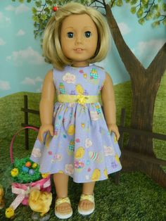 18 doll clothes American Girl doll clothes Easter by SewCuteJune