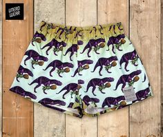 Repin if you love the T-rex pattern! Designer Boxers with bold patterns. Men's underwear for geeks and nerds only. Fairly produced in Europe, 100% cotton, packed in gold! unerdwear.com/ From $27