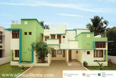 USHED HUF 7771 LICK OF LIME 7711 GREEN HAVEN 7527 HOME EXTERIORS COLOR FROM ASIAN PAINTS