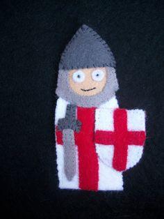 Knight Templar Finger Puppet