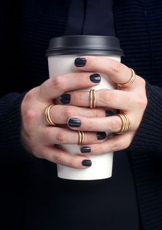 These thick bronze rings are a bold take on the stacking ring trend. Set of two handcrafted bronze rings. Also available as a midi (or first knuckle) ring. Made to order. Please allow 2-3 days for you
