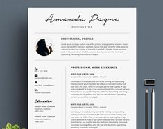 Professional CV Curriculum Vitae 2 Page Resume Simple Cover Letter Teacher, Cv Cover Letter, Cover Letter Template, Letter Templates, Microsoft Word 2007, Modern Resume Template, Resume Templates, Word Cv, Cv Curriculum Vitae