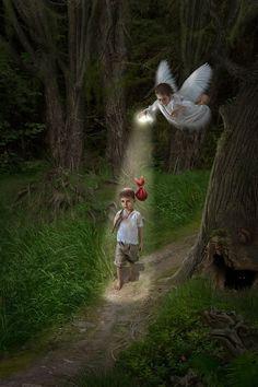 Guardian angel lights the way.