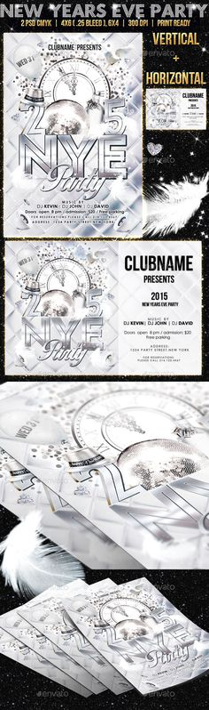 White New Years Eve Party Flyer