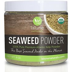 Seaweed Powder - La Lune Naturals Organic Seaweed Powder, Organic Kelp Powder - 20 FREE Recipes and Scoop - Seaweed Facial Mask, Mud Mask, Bath - Best Cellulite Treatment & Remover for Body Wraps - 100% Pure Ascophyllum Nodosum La Lune Naturals http://www.amazon.com/dp/B00L88S190/ref=cm_sw_r_pi_dp_zgmCvb1KASCMC