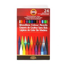 Find Progresso Woodless Color Pencils Set, 24 Count at Michaels. Preferred by professional artists and advanced students, these woodless colored pencils have a weighty feel and richly pigmented color, ideal for drawing, illustrating and coloring. Coleus, Koh I Noor, Artist Pencils, Paint Supplies, Dose Of Colors, Coloured Pencils, Designs To Draw, Adult Coloring, Coloring Books
