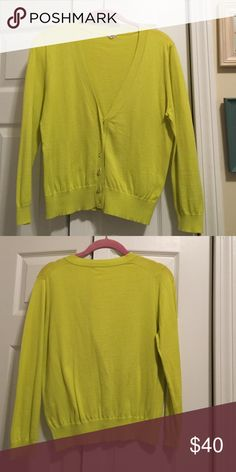 Jcrew cardigan Jcrew Lime green cardigan. 100% cotton. Size medium J. Crew Sweaters  Cardigans 39febd9b8