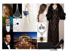 """Attending the evening wedding of Fred's maternal cousin Amschel Rothschild and Jane Mayfield at Waddesdon Manor, Buckinghamshire"" by marywindsor ❤ liked on Polyvore featuring SCARLETT, Dolce&Gabbana, Blush Noir, Lauren Merkin, Harrods and Chaumet"