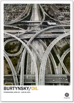 Highway Intersection 105 & 110 Los Angeles, California, USA, 2003 by Edward Burtynsky. The Photographers' Gallery; Exhibitions: The Photographers' Gallery Print Sales; Art Actuel, East Los Angeles, Dangerous Roads, City Of Angels, London Art, Concrete Jungle, Monument Valley, Cities, Around The Worlds