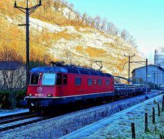 Swiss Railways, Electric Locomotive, Train, Zug, Strollers